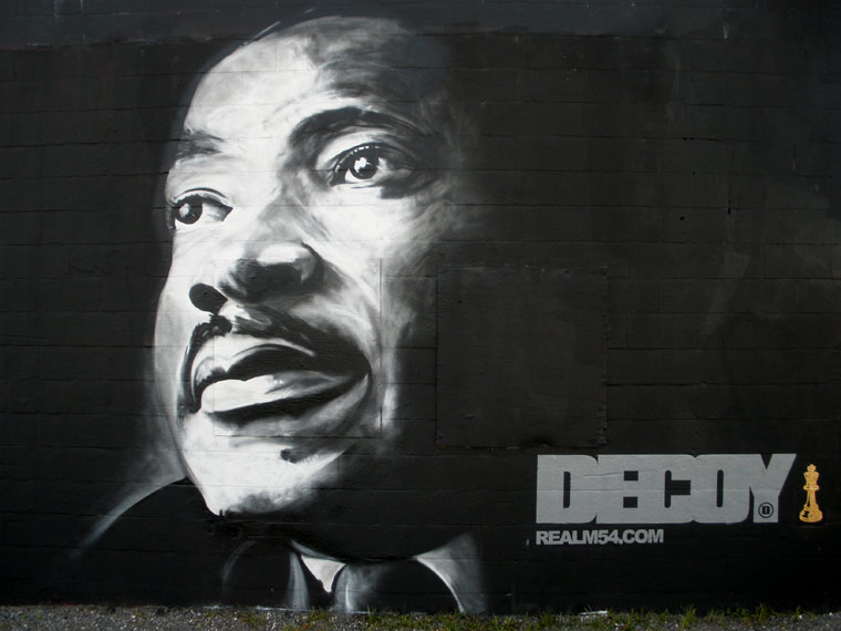 Decoy's mural, MLK tribute!.